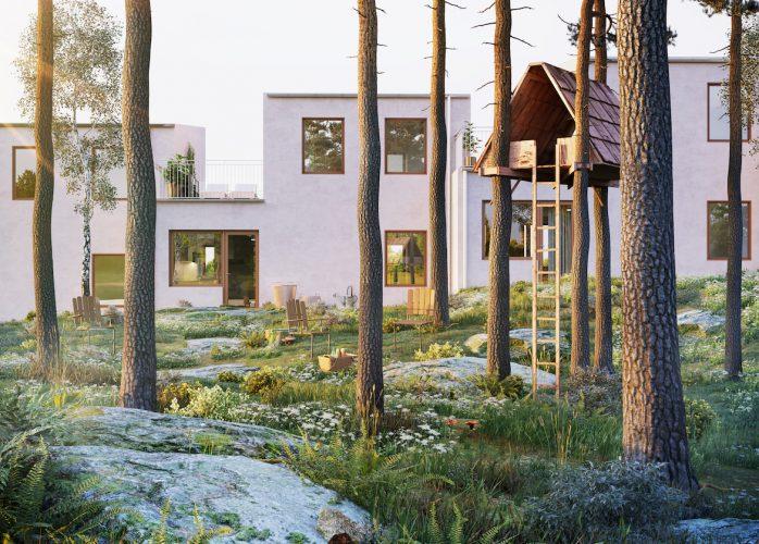 SSM nyproduktion, bostadsrätter i Sollentuna radhus