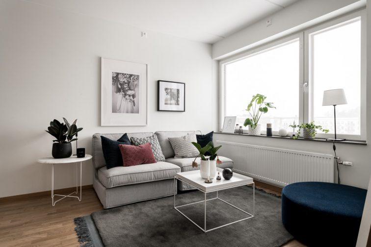 SSM nyproduktion, bostadsrätter i Ursvik vardagsrum