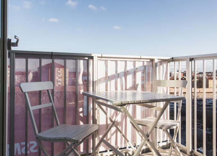 SSM nyproduktion i Telefonplan, Metronomen, balkong